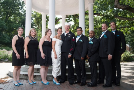 Carolina Club, Chapel Hill, NC: Bridal party at the Old Well