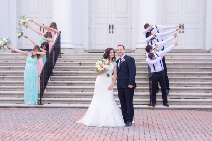 Christ Baptist Church Wedding, Raleigh NC: Cultures collide with dapping wedding party