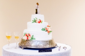 Christ Baptist Church Wedding, Raleigh NC: God keeps his promises, and the wedding promises cake.