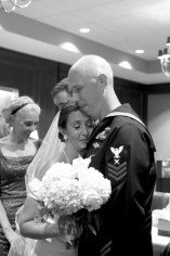 Carolina Club, Chapel Hill, NC:Virginia hugs her brand new husband